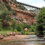 Huckaby Hiking Trail; Sedona; Arizona; Landscape; View; Red Rocks; Sedona Area Hiking Trails; Oak Creek; Easy Hiking Trails; Hiking Trails with Water; Copyright azutopia.com. No use without permission