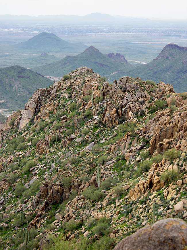 Sunrise Mountain; Sunrise Peak; McDowell Mountains; McDowell Mountain Preserve; Scottsdale; Arizona; Desert; Views; Sunrise Hiking Trail; Copyright AZutopia
