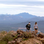 Hikers; Hiking; Sunrise Mountain; Sunrise Peak; McDowell Mountains; McDowell Mountain Preserve; Scottsdale; Arizona; Desert; Views; Sunrise Hiking Trail; Copyright AZutopia