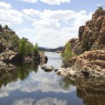 Watson Lake Loop Hiking Trails; Over the Hill Hiking Trail; Watson Lake; Prescott; Arizona; Central Arizona Hikes; Easy hikes; Lake; Granite Dells; Kayakers; azutopia.com; no use without permission.