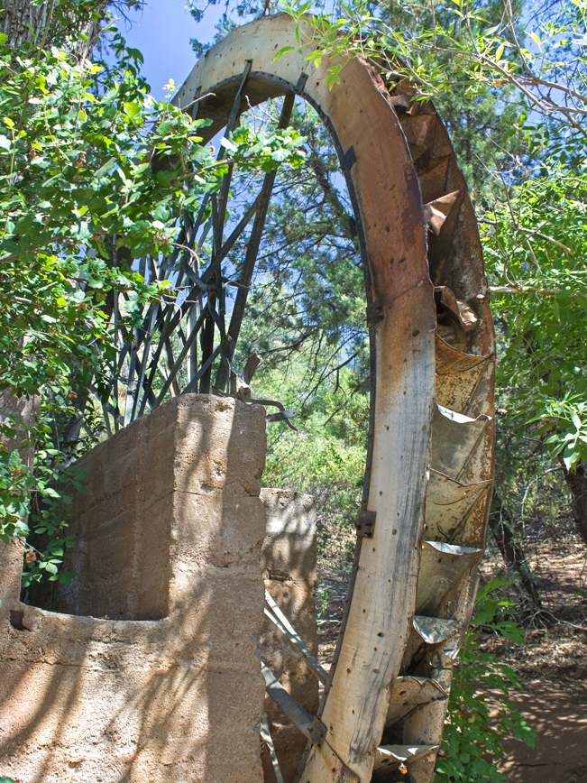 Water Wheel Hiking Trail; Payson; Arizona; Easy Hikes; Water Hikes; Mill Wheel; Arizona Summer Hikes
