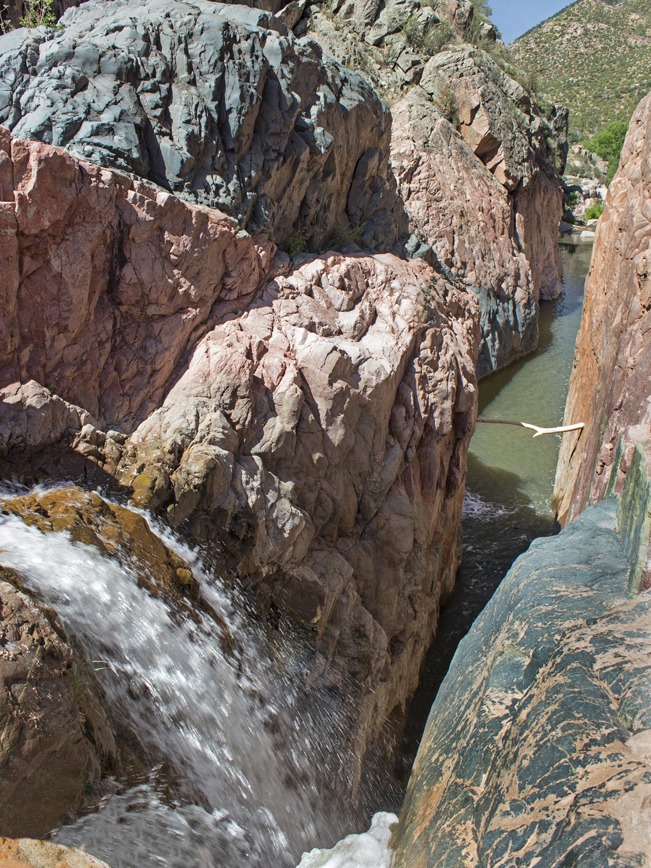 Water Wheel Hiking Trail; Payson; Arizona; Easy Hikes; Water Hikes; Waterfall; Swimming Hole; Cliffs; Arizona Summer Hikes
