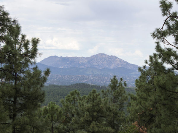 View of Granite Mountain from the Groom Creek Hiking Trail; Prescott; Arizona; Prescott National Forest; Spruce Mountain; Moderate Hiking Trails; Pet Friendly Hiking Trails. Copyright azutopia.com. No use without permission.