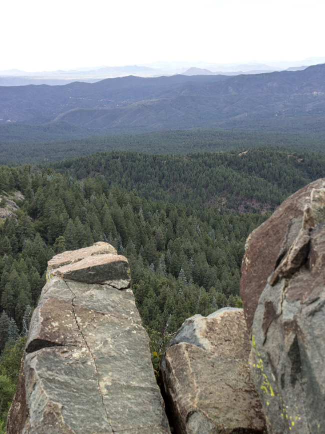 View of the Chino Valley from the top of the Groom Creek Hiking Trail; Prescott; Arizona; Prescott National Forest; Spruce Mountain; Moderate Hiking Trails; Pet Friendly Hiking Trails. Copyright azutopia.com. No use without permission.