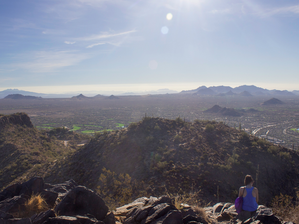 Distance From Sedona To Phoenix >> Cave Creek's Black Mountain Trail: Short, steep workout hike w/ epic views