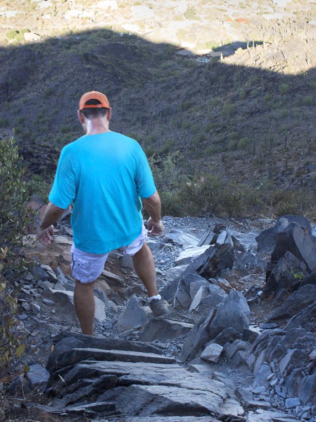 Hiker; Slate; Black Mountain; Black Mountain Hiking Trail; Cave Creek; Arizona; Phoenix Area Hiking Trails; Central Arizona Hiking Trails; Difficult Hiking Trails; Cave Creek Views; copyright azutopia.com; No use without permission