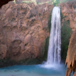 Havasu Hiking Trail; Havasupai Reservation; Havasu Canyon; Grand Canyon; Supai Village; Mooney Falls; Havasu Creek; Waterfall; Difficult Hiking Trails; Northern Arizona Hiking Trails; Copyright azutopia.com. No use without permission.