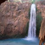 Havasu Hiking Trail; Havasupai Reservation; Havasu Canyon; Grand Canyon; Supai Village; Mooney Falls; Havasu Creek; Waterfall; Difficult Hiking Trails; Northern Arizona Hiking Trails; Copyright azutopia.com. No use without permission.