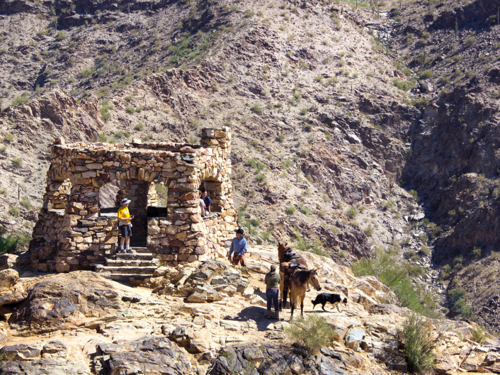 Hikers; Dog; Horses; View; Valley; Kiwanis Hiking Trail; National Hiking Trail; Telegraph Pass Lookout; Mountains; Phoenix Area Hikes; Easy Hikes; Dog Friendly Hikes; Central Arizona Hikes; South Mountain Regional Park; Copyright azutopia.com. No use without written permission.