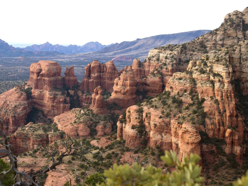Bear Mountain Hiking Trail; Bear Mountain; Sedona; Arizona; Views; Difficult Hiking Trails; Northern Arizona Hiking Trails; Red Rocks; Copyright azuopia.com. No use without express written permission.