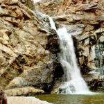 Tanque Verde Hiking Trail; Tucson; Arizona; Rincon Mountains; Canyon; Boulders; Waterfall, Pool, Tanque Verde Falls, River Bed; Steam; Saquaros; Copyright azutopia.com; no use without permission.